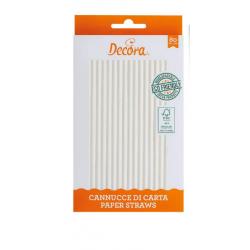 80 WHITE PAPER STRAWS DECORATE ( 0350101 )