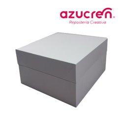100 Units WHITE CAKE BOX BLANCA 33 X 33 X 15.2 CM. HEIGHT REF.