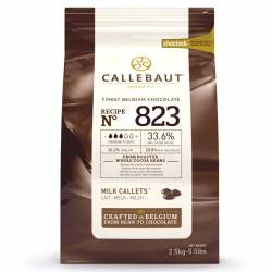 CALLEBAUT MILK CHOCOLATE CALLETS- 2.5 KG, ( Nº823 )
