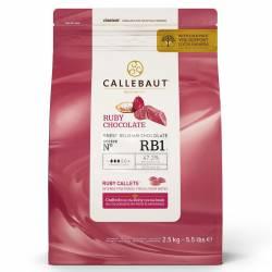 CALLEBAUT CHOCOLAT RUBIS CALLETS- 2,5 KG