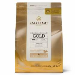 CALLEBAUT CHOCOLATE GOLD CALLETS- 2.5 KG