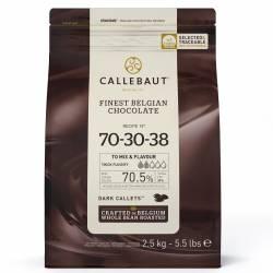 CALLEBAUT CHOCOLATE CALLETS- EXTRA DARK 70,4 % 2.5 KG