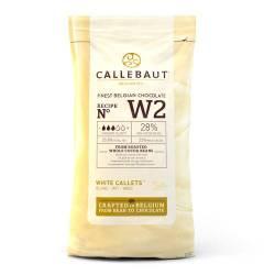 CALLEBAUT WHITE CHOCOLATE CALLETS 1 KG ( Nº W2 )