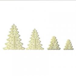 SET 8 3D CHRISTMAS TREE CUTTERS PME ( 102CI012 )
