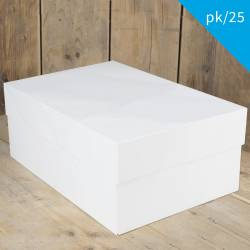 FUNCAKES PACK 25 UNITS WHITE CAKE BOX 40 X 30 X 30 X 15...