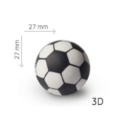 FOOTBALL BALLS 3D WHITE CHOCOLATE 40 UNITS ( 15158F36B )