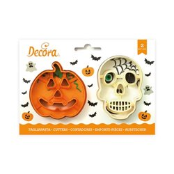 KIT 2 CUTTERS PUMPKIN AND SKULL DECORATES ( 0255067 )