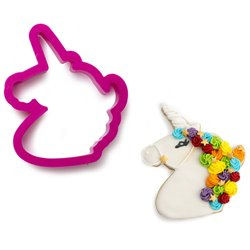 UNICORN PLASTIC CUTTER ( 8.5 X 10 X 2 CM. HEIGHT ) DECORATES ( 0255078 )