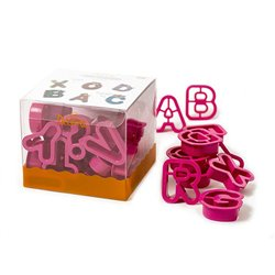 SET 27 PLASTIC LETTER CUTTERS ( 5.2 X 2.2 CM. HEIGHT ) DECORATES ( 0255081 )
