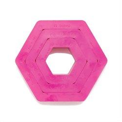 SET 3 HEXAGONAL PLASTIC CUTTERS ( 0255302 )