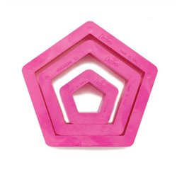 SET 3 PENTAGON-SHAPED PLASTIC CUTTERS ( 0255303 )
