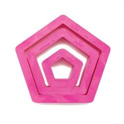 SET 3 PENTAGON-SHAPED PLASTIC CUTTERS ( 0255303 )