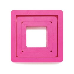 SET 3 PLASTIC CUTTERS IN THE SHAPE OF A DECORATIVE SQUARE ( 0255304 )