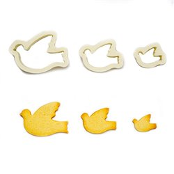 SET 3 CUTTERS DOVE DECORATES ( 0255407 )