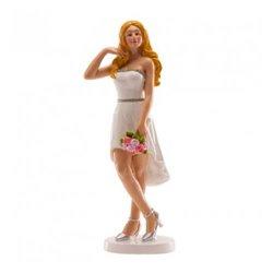 WEDDING FIGURE WOMAN SHORT DRESS 16 CM. HEIGHT DEKORA ( 305086 )