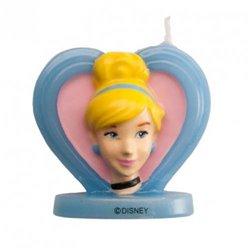 3D ASHEN HEART CANDLE 5.5 CM. DEKORA (346194)