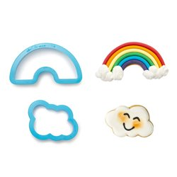 SET 2 RAINBOW AND CLOUD CUTTERS ( 0255077 )