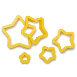 SET 5 STAR CUTTERS DECORATES ( 0255312 )
