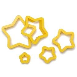 SET 5 STAR CUTTERS DECORATES ( 0255312 )