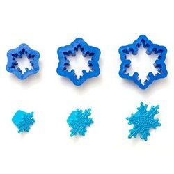 SET 3 SNOWFLAKE CUTTERS + DECORATIVE MARKERS ( 0255163 )