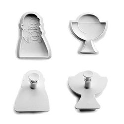 SET 2 CUTTERS WITH EJECTOR CALYX-GIRL COMMUNION IBILI ( 788902 )