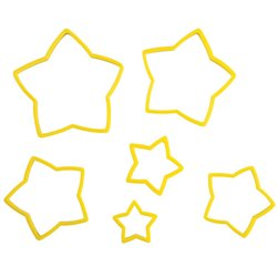 SET 6 UNITS STARS WILTON PLASTIC ( 2304-111 )
