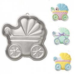 WILTON BABY CARRIAGE CAKE MOULD ( 2105-3319 )