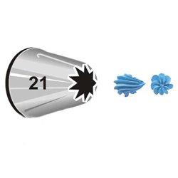 "WILTON NOZZLE Nº 21 "" OPEN STAR "" ( 418-21 )"