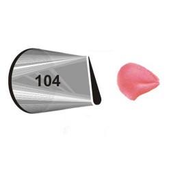 """NOZZLE Nº 104 WILTON """" PETAL """" ( 418-104 )"""