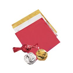 CHOCOLATE WRAPPING, SILVER CAKEPOP PACKAGE 50 UNITS ( 10 X 10 CM. ) WILTON ( 1904-1196 )