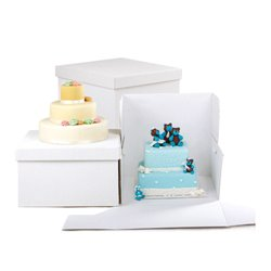 RIGID WHITE BOX 36 X 36 X 25 CM. DECORATES ( 0339154 )