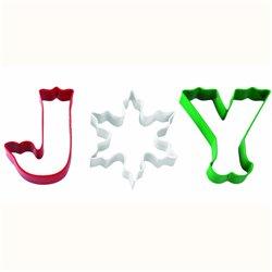 SET 3 JOY WILTON CHRISTMAS CUTTERS ( 2308-3272 )