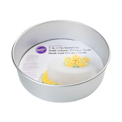 ROUND CAKE MOULD 25 X 7.5 CM. HEIGHT WILTON ( 2105-6104 )