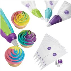 KIT DECORATION COLORSWIRL TRICOLOR ADAPTER 9 UNITS WILTON ( 03-3138 )