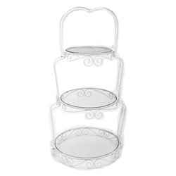 SUPPORT + PLATES 3 LEVELS FOR CAKES ELEGANT WILTON ( 307-841 )