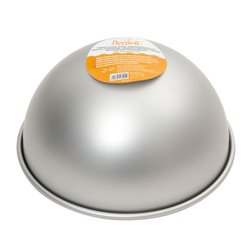 20 CM ANODISED ALUMINIUM MOULD FOR HEMISPHERE. DECORATES ( 0062955 )