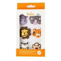 6 UNITS OF SUGAR DECORATIONS FOREST ANIMALS ( 0500297 )