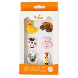 6 UNITS OF SUGAR DECORATIONS FARM ANIMALS ( 0500298 )