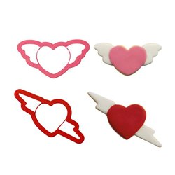 SET 2 LOVE PLASTIC CUTTERS ( 0255063 )