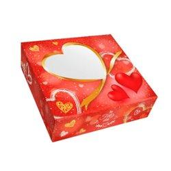 "VALENTINE'S DAY BOX "" HEART "" 28 X 28 X 8 CM. HEIGHT"