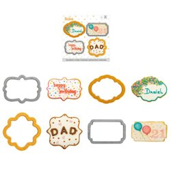 SET 4 PLASTIC CUTTERS DECOR FRAMES ( 0255087 )