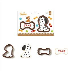 SET 2 PLASTIC DOG AND BONE CUTTERS DECORATE ( 0255200 )