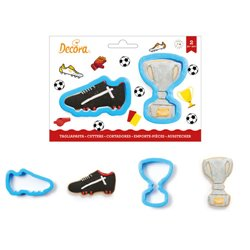 SET 2 PLASTIC TROPHY CUTTERS AND FOOTBALL BOOT DECORATION ( 0255208 )