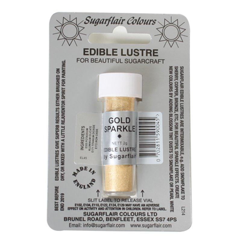GOLD SPARKLE POWDER SUGARFLAIR 2 GRAM ( E106 )
