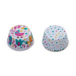 36 UNITS CAPSULES BABY SHOWER GIRL AND POLKA DOTS ( 5 X 3.2 CM. ) DECORATES ( 0339825 )