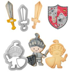 SET 2 PLASTIC KNIGHT CUTTERS AND DECORATIVE SWORD ( 0255053 )