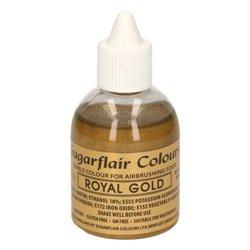 AIRBRUSH DYE ROYAL GOLD SUGARFLAIR 60 ML ( V508 )