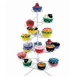 STAND CUPCAKE WHITE PME ( CS1005 ) FOR 19 CUPCAKES