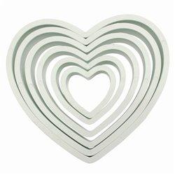 SET 6 PME HEART PLASTIC CUTTERS ( PNH2 )