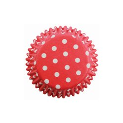 MINI RED CAPSULE WITH WHITE DOTS 100 PME ( BC723 )